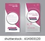 vector flyer and leaflet design.... | Shutterstock .eps vector #614303120