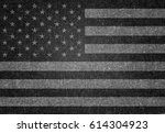usa flag on grey background.... | Shutterstock . vector #614304923