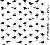illustration with happy crows... | Shutterstock .eps vector #614310470