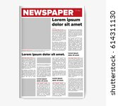 newspaper layout vector | Shutterstock .eps vector #614311130