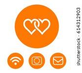 heart icon vector   Shutterstock .eps vector #614312903