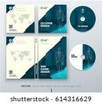 cd envelope  dvd case design.... | Shutterstock .eps vector #614316629