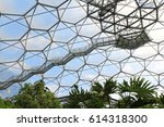 Small photo of Eden Project, Cornwall, England – August 24, 2010: The world's largest rainforest in captivity with steamy jungles and waterfalls. Educational centre and demonstrations to inspire all ages.