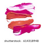 pink and red smears of lip... | Shutterstock . vector #614318948