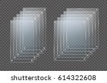 glass plates are installed.... | Shutterstock .eps vector #614322608