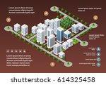 isometric 3d city megapolis... | Shutterstock .eps vector #614325458