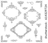 set collection of vector... | Shutterstock .eps vector #614329724