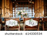 designation of chairs for the... | Shutterstock . vector #614330534