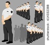 police security guard vector... | Shutterstock .eps vector #614332388