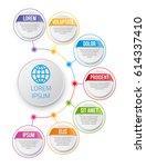 infographics flower style chart ... | Shutterstock .eps vector #614337410