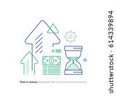 time is money concept ... | Shutterstock .eps vector #614339894