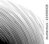 geometric edgy spiral shape.... | Shutterstock .eps vector #614340428
