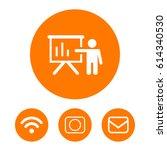 teacher icon stock vector... | Shutterstock .eps vector #614340530