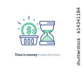 financial basket  time is money ... | Shutterstock .eps vector #614341184
