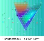 triangles icon elements | Shutterstock .eps vector #614347394