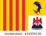 flag of provence alpes cote d... | Shutterstock .eps vector #614350130