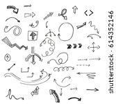 hand drawn vector arrows set.   Shutterstock .eps vector #614352146