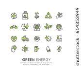 vector icon style logo set... | Shutterstock .eps vector #614353949