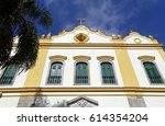 church of the seraphic father... | Shutterstock . vector #614354204