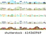 city landscape set | Shutterstock .eps vector #614360969
