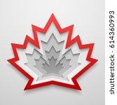 Maple Leaf Paper Art Shape....