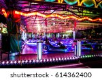 crazy night at the fair.long... | Shutterstock . vector #614362400