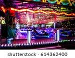 crazy night at the fair.long...   Shutterstock . vector #614362400