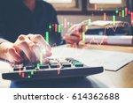 businessman's hands with... | Shutterstock . vector #614362688