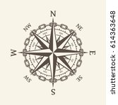wind rose vector illustration.... | Shutterstock .eps vector #614363648