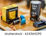 resistors  capacitors and other ... | Shutterstock . vector #614364290