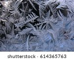 this is frosty pattern on glass ... | Shutterstock . vector #614365763