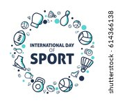 international day of sport | Shutterstock .eps vector #614366138
