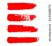 painted grunge stripes set. red ...   Shutterstock .eps vector #614368874