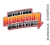 inventory reduction sales event ... | Shutterstock .eps vector #614369213