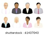set of business people icons ... | Shutterstock . vector #61437043