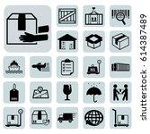 shipping icon set.vector... | Shutterstock .eps vector #614387489