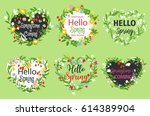 Spring Greeting Vector Icons...