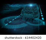 autonomous self drive vehicle   ... | Shutterstock . vector #614402420