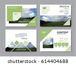 set of presentation layout... | Shutterstock .eps vector #614404688