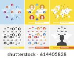 set of concepts on the theme of ... | Shutterstock .eps vector #614405828