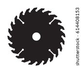an iconic circular saw blade in ...   Shutterstock .eps vector #614408153