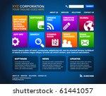 a blue website homepage design...   Shutterstock .eps vector #61441057