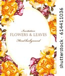 romantic invitation. wedding ... | Shutterstock .eps vector #614411036