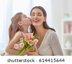 happy mother's day  child... | Shutterstock . vector #614415644