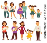 family mother  father and... | Shutterstock .eps vector #614415953