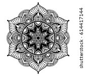 mandalas for coloring book.... | Shutterstock .eps vector #614417144
