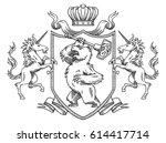 vector image of a heraldic... | Shutterstock .eps vector #614417714