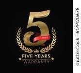 5 years warranty background... | Shutterstock .eps vector #614420678