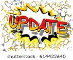 update   comic book style word... | Shutterstock .eps vector #614422640