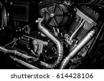 motorcycle engine engine... | Shutterstock . vector #614428106